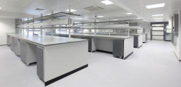 مشاوره ، تولید و اجرای سکوبندی آزمایشگاهی