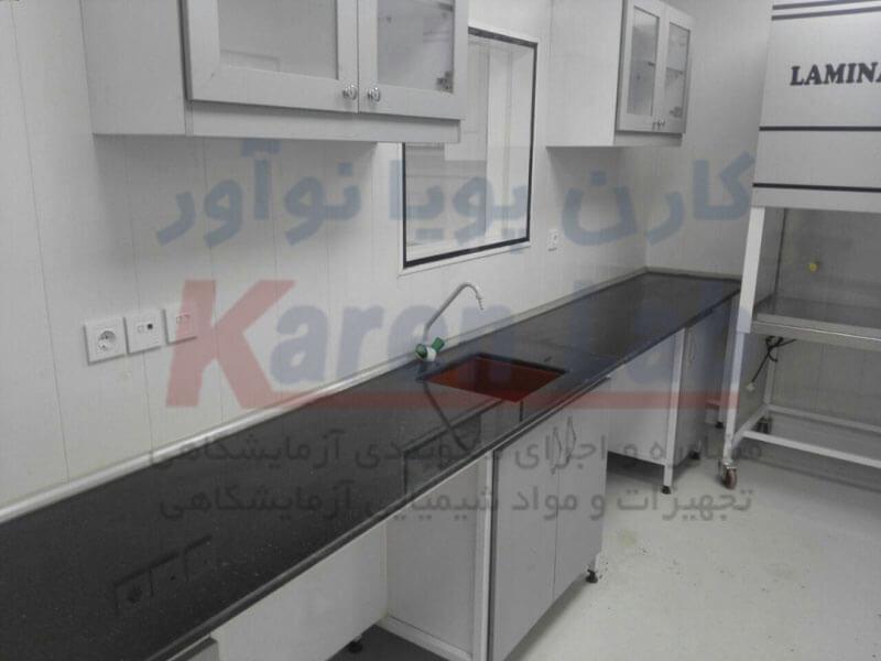 گالری تصاویر پروژه کابینت و میزبندی آزمایشگاه