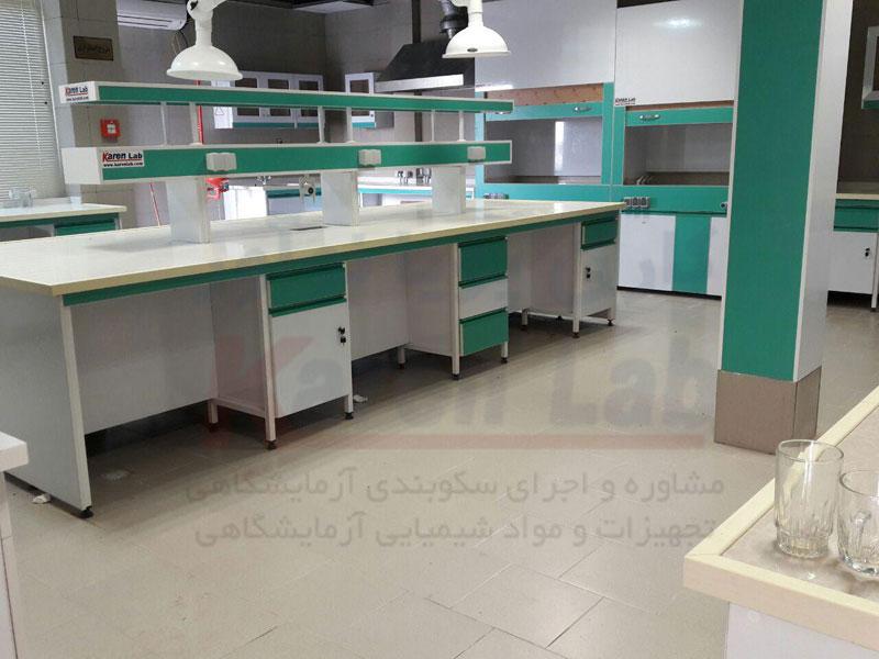 بخش های اصلی سکوبندی آزمایشگاه