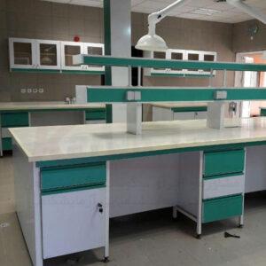 سکوبندی دو طرفه آزمایشگاهی - میز وسط آزمایشگاهی